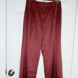 Leith Burnt Red Satin Trousers - S